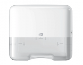 Tork dozownik mini do ręczników Singlefold /C-fold (w składce ZZ i składce C) Biały