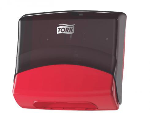 Tork Dozownik czyściwo przemysłowe w odcinkach czerwony/dymny
