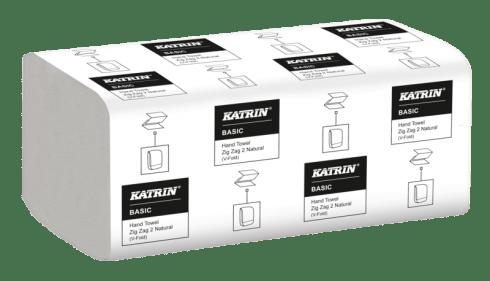"""Katrin Ręczniki papierowe składane """"V"""" Katrin Basic Hand Towel Zig Zag 2 Handy Pack"""