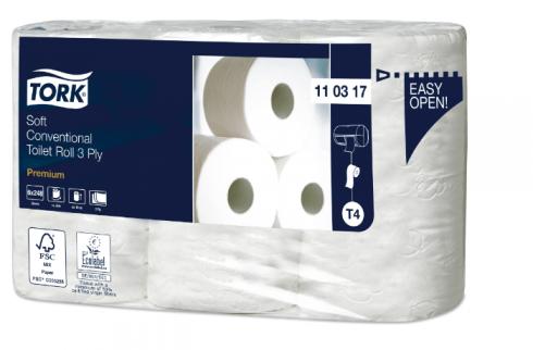 Tork papier toaletowy do dozownika z automatyczną zmianą rolek miękki Premium – 3 warstwy