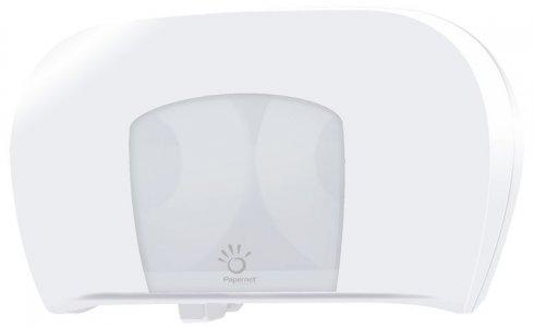 Papernet dozowniki na papier toaletowy Dozownik Twin Mini Jumbo Papier Toaletowy